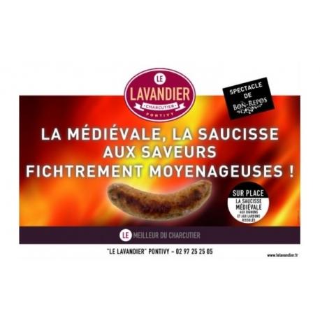 Saucisse Médiévale (lardons et oignons rissolés)