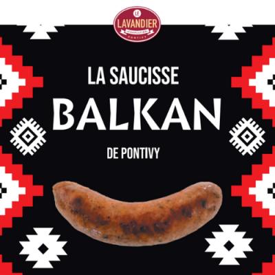 Saucisse des Balkans (purée de poivrons rouges)
