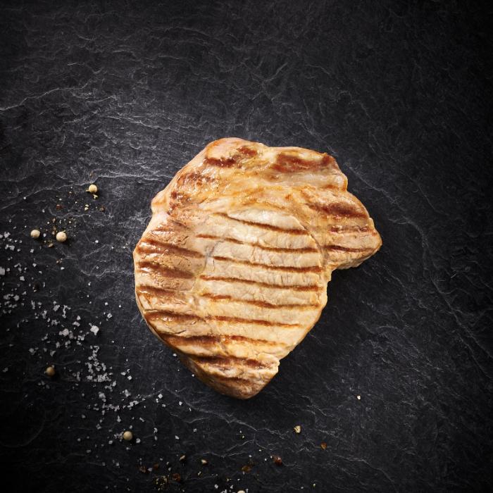 Entrecôte de porc cuite